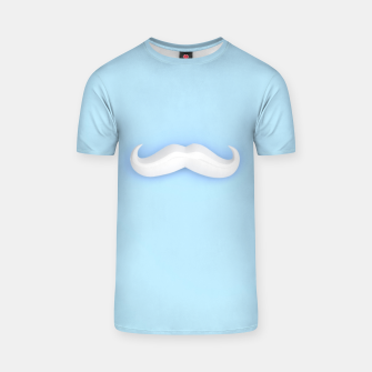 Thumbnail image of White Mustache T-shirt, Live Heroes
