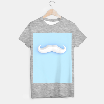 Thumbnail image of White Mustache T-shirt regular, Live Heroes
