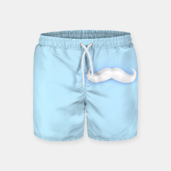 Thumbnail image of White Mustache Swim Shorts, Live Heroes