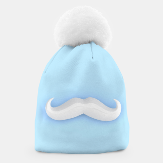 Thumbnail image of White Mustache Beanie, Live Heroes