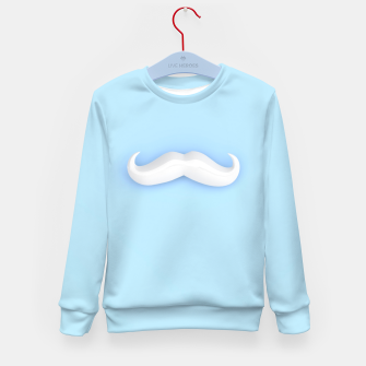 Thumbnail image of White Mustache Kid's sweater, Live Heroes