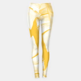 Tropical Yellow Banana Leaves Vibes #1 #decor #art  Leggings obraz miniatury