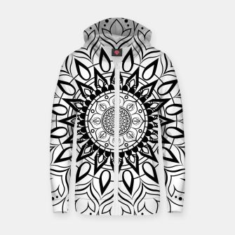 Miniaturka Black and White Mandala II Zip up hoodie, Live Heroes