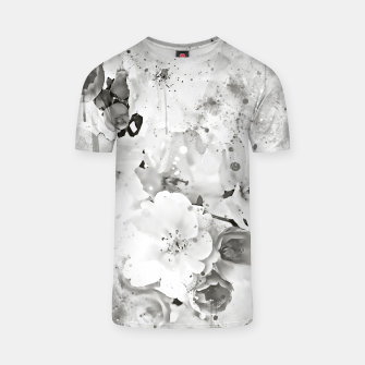 Thumbnail image of japanese cherry blossom wsbw T-shirt, Live Heroes