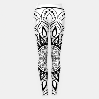 Miniaturka Black and White Mandala II Leggings, Live Heroes