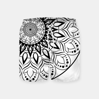 Miniaturka Black and White Mandala II Swim Shorts, Live Heroes