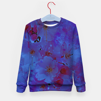 japanese cherry blossom wsml Kid's sweater thumbnail image