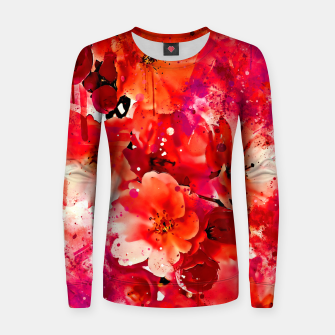 Thumbnail image of japanese cherry blossom wslsb Women sweater, Live Heroes