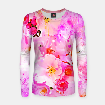 Thumbnail image of japanese cherry blossom wsstd Women sweater, Live Heroes