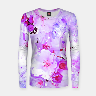 Thumbnail image of japanese cherry blossom wspb Women sweater, Live Heroes