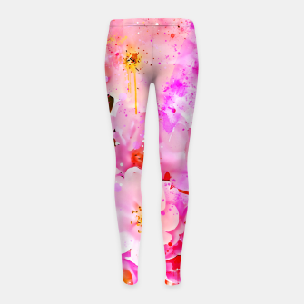 Thumbnail image of japanese cherry blossom wsstd Girl's leggings, Live Heroes
