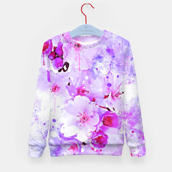 Thumbnail image of japanese cherry blossom wspb Kid's sweater, Live Heroes