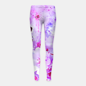 Thumbnail image of japanese cherry blossom wspb Girl's leggings, Live Heroes