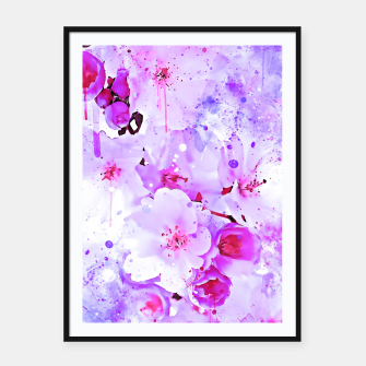 Thumbnail image of japanese cherry blossom wspb Framed poster, Live Heroes