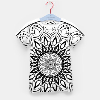 Miniaturka Black and White Mandala II Kid's t-shirt, Live Heroes