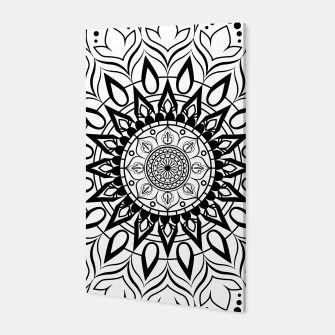 Miniaturka Black and White Mandala II Canvas, Live Heroes
