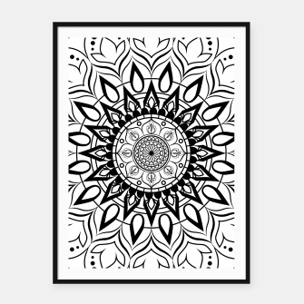 Miniaturka Black and White Mandala II Framed poster, Live Heroes