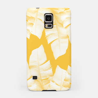Miniaturka Tropical Yellow Banana Leaves Vibes #1 #decor #art  Handyhülle für Samsung, Live Heroes