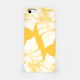 Miniature de image de Tropical Yellow Banana Leaves Vibes #1 #decor #art  iPhone-Hülle, Live Heroes