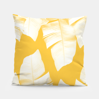 Tropical Yellow Banana Leaves Vibes #1 #decor #art  Kissen obraz miniatury