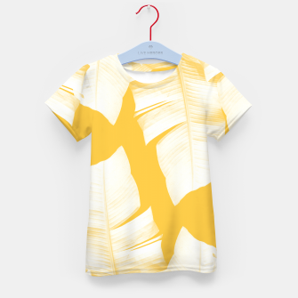 Tropical Yellow Banana Leaves Vibes #1 #decor #art  T-Shirt für kinder obraz miniatury