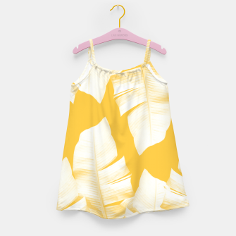 Miniaturka Tropical Yellow Banana Leaves Vibes #1 #decor #art  Mädchenkleid, Live Heroes