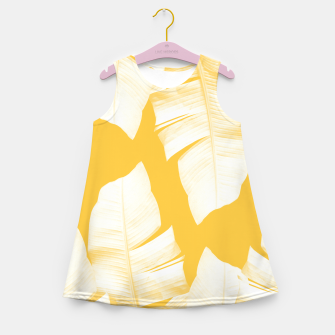 Miniaturka Tropical Yellow Banana Leaves Vibes #1 #decor #art  Mädchen-Sommerkleid, Live Heroes