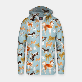 Thumbnail image of Japanese dogs Sudadera con capucha y cremallera , Live Heroes