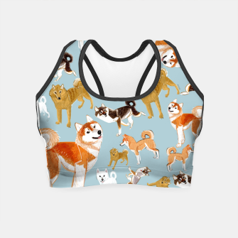 Miniature de image de Japanese dog breeds Crop Top, Live Heroes