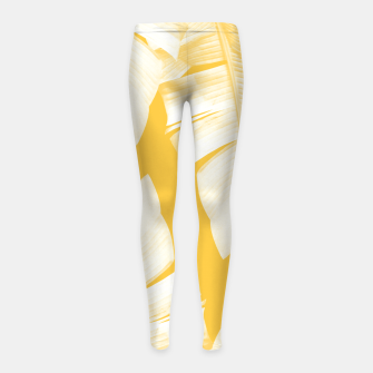 Tropical Yellow Banana Leaves Vibes #1 #decor #art  Kinder-Leggins obraz miniatury