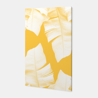 Tropical Yellow Banana Leaves Vibes #1 #decor #art  Canvas obraz miniatury