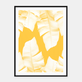 Tropical Yellow Banana Leaves Vibes #1 #decor #art  Plakat mit rahmen obraz miniatury