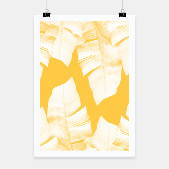 Tropical Yellow Banana Leaves Vibes #1 #decor #art  Plakat obraz miniatury