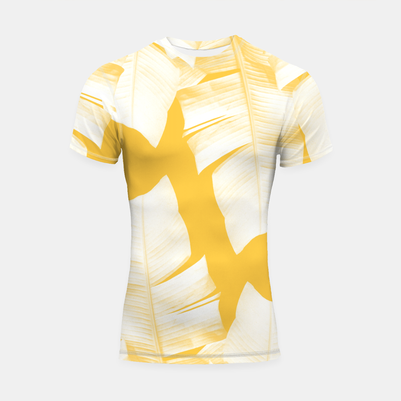 Zdjęcie Tropical Yellow Banana Leaves Vibes #1 #decor #art  Shortsleeve rashguard - Live Heroes