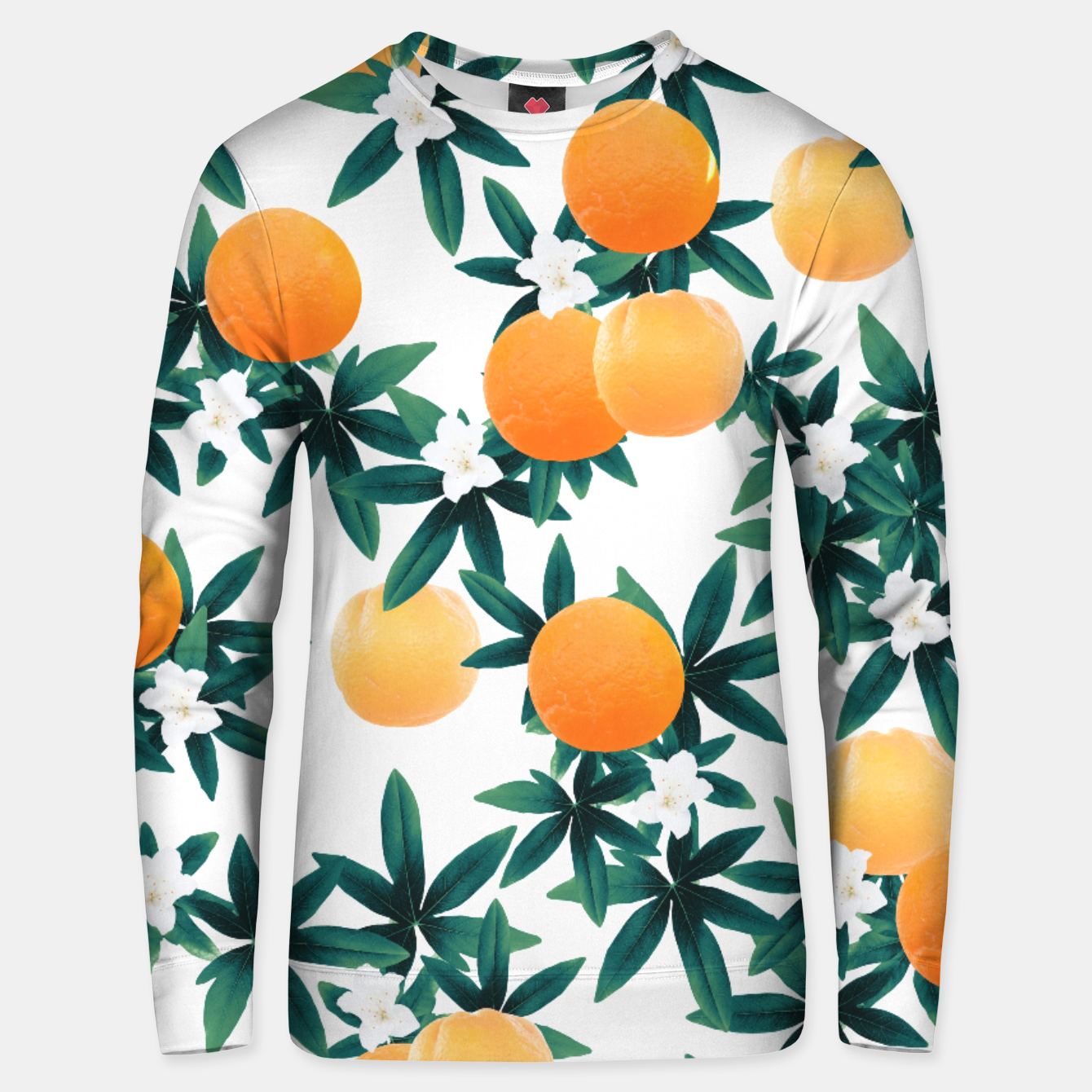 Zdjęcie Orange Twist Flower Vibes #2 #tropical #fruit #decor #art Unisex sweatshirt - Live Heroes