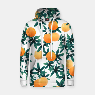 Miniaturka Orange Twist Flower Vibes #2 #tropical #fruit #decor #art Kapuzenpullover, Live Heroes