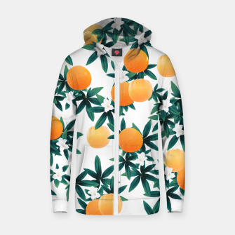 Miniaturka Orange Twist Flower Vibes #2 #tropical #fruit #decor #art Reißverschluss kapuzenpullover, Live Heroes