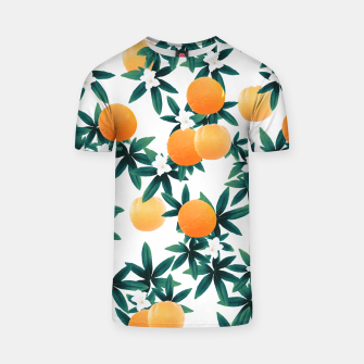 Orange Twist Flower Vibes #2 #tropical #fruit #decor #art T-Shirt obraz miniatury