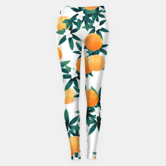 Orange Twist Flower Vibes #2 #tropical #fruit #decor #art Leggings obraz miniatury