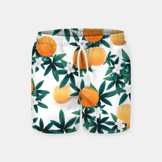 Orange Twist Flower Vibes #2 #tropical #fruit #decor #art Badeshorts obraz miniatury