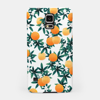 Orange Twist Flower Vibes #2 #tropical #fruit #decor #art Handyhülle für Samsung obraz miniatury