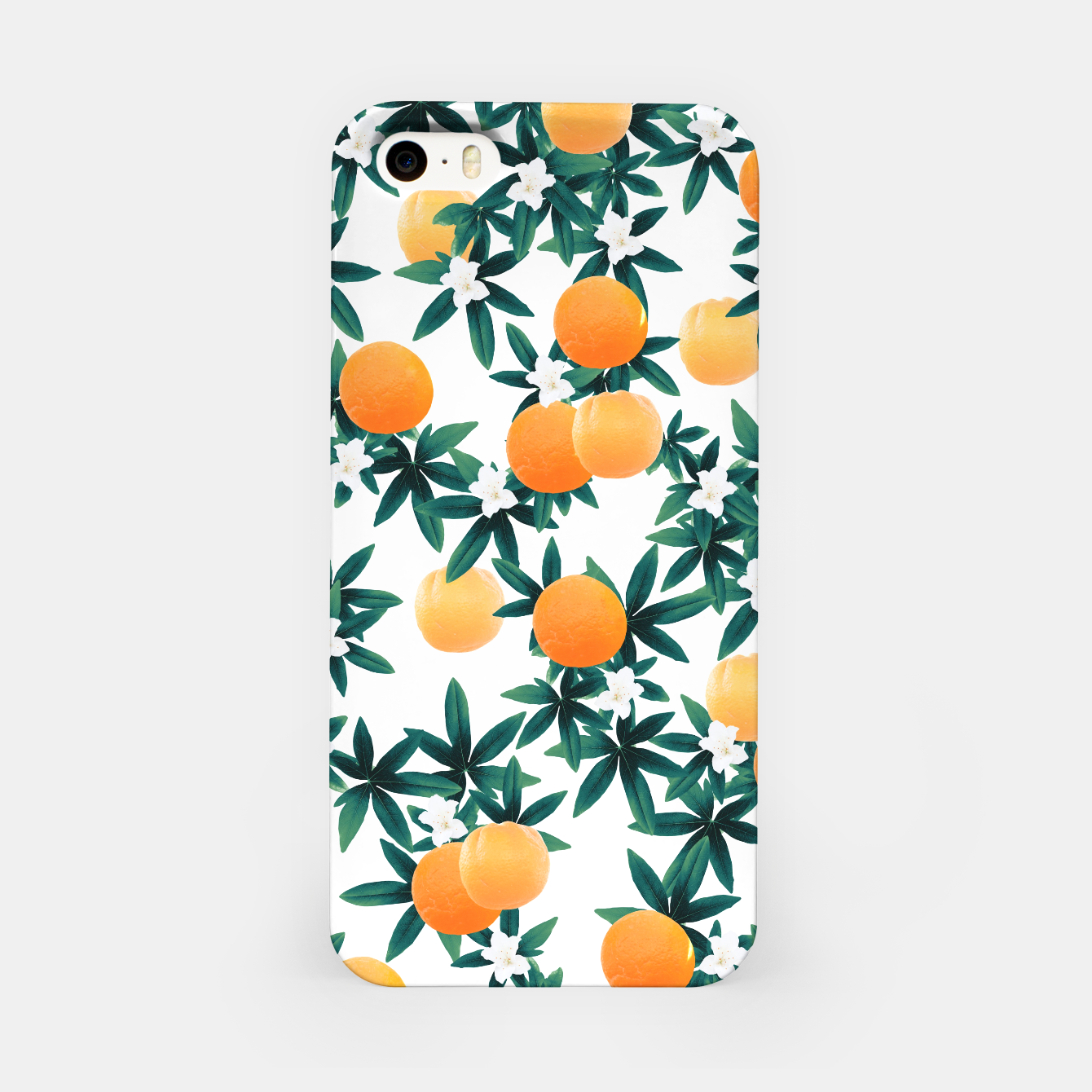 Zdjęcie Orange Twist Flower Vibes #2 #tropical #fruit #decor #art iPhone-Hülle - Live Heroes