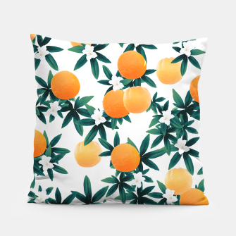 Orange Twist Flower Vibes #2 #tropical #fruit #decor #art Kissen obraz miniatury
