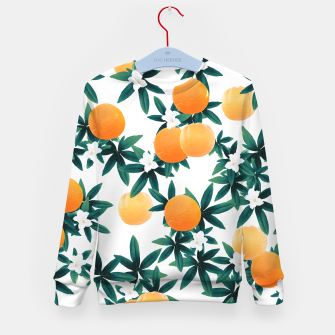 Orange Twist Flower Vibes #2 #tropical #fruit #decor #art Kindersweatshirt obraz miniatury