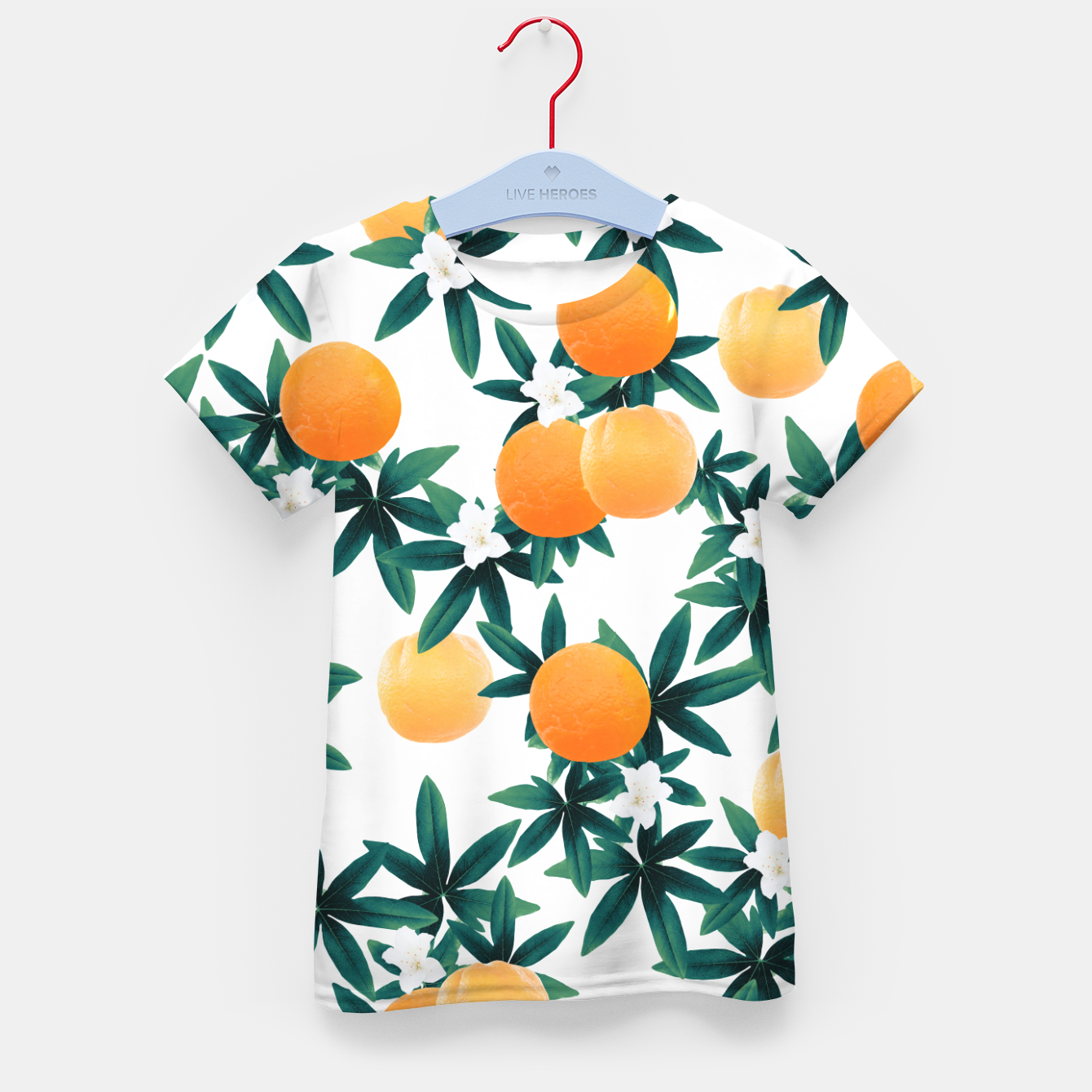 Zdjęcie Orange Twist Flower Vibes #2 #tropical #fruit #decor #art T-Shirt für kinder - Live Heroes