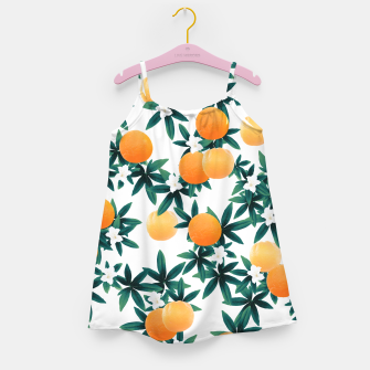 Miniaturka Orange Twist Flower Vibes #2 #tropical #fruit #decor #art Mädchenkleid, Live Heroes