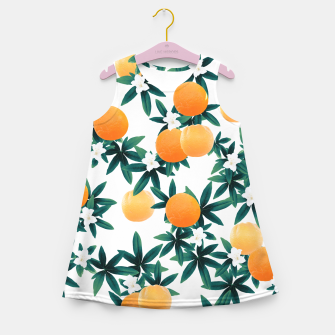 Miniaturka Orange Twist Flower Vibes #2 #tropical #fruit #decor #art Mädchen-Sommerkleid, Live Heroes
