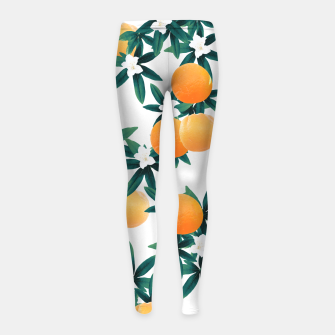 Orange Twist Flower Vibes #2 #tropical #fruit #decor #art Kinder-Leggins obraz miniatury