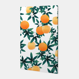 Orange Twist Flower Vibes #2 #tropical #fruit #decor #art Canvas obraz miniatury