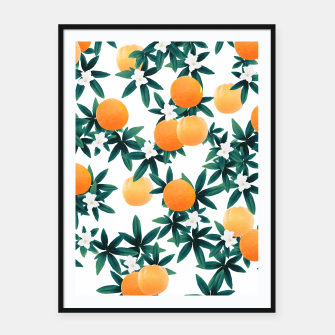 Orange Twist Flower Vibes #2 #tropical #fruit #decor #art Plakat mit rahmen obraz miniatury